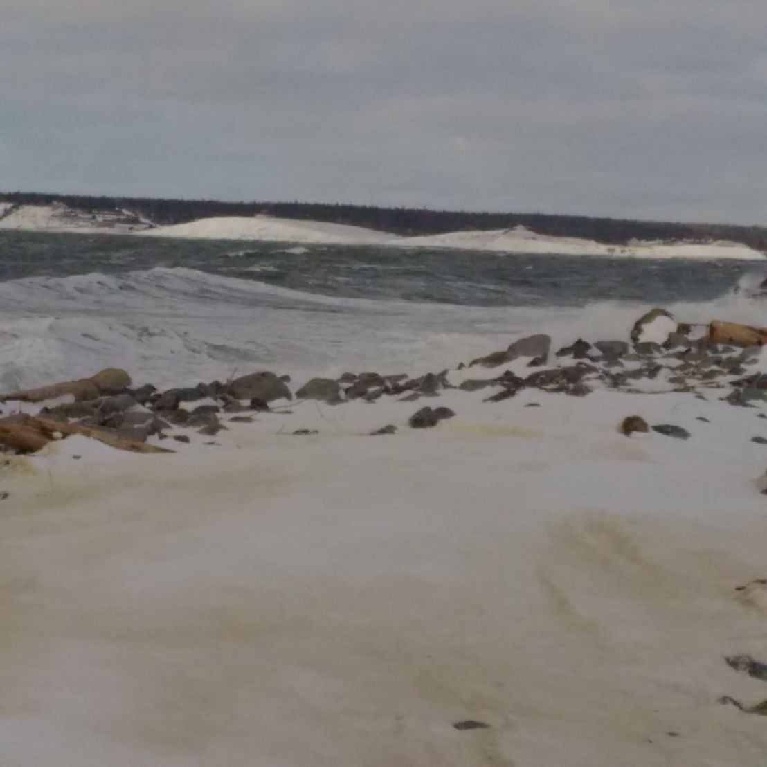 Lots of Snow and Rough Seas inSandford